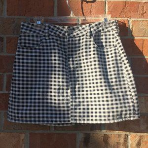 Pacsun Black & White Women Jeans Skirt Size 27